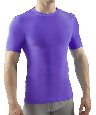Sub Sports Cold Thermal Mens Short Sleeve Top Compression Baselayer - Purple