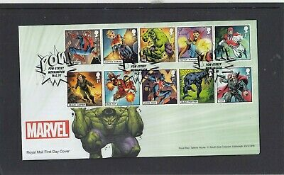 GB 2019 Marvel Royal Mail FDC First Day Cover Pow Street Workington special pmk
