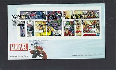 GB 2019 Marvel MS Royal Mail FDC First Day Cover Marvel Street Hull special pmk