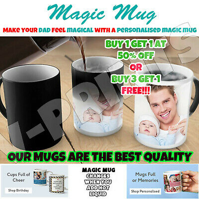Personalised Mug Magic Mug Cup Heat Colour Changing Mug Custom Design Photo Gift
