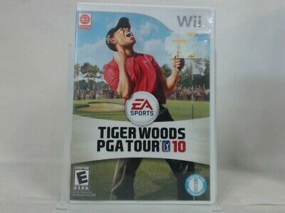 TIGER WOODS PGA TOUR 10 Wii Complete in Box w/ Manual CIB Acceptable