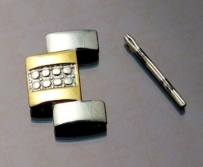 Watch Band Link Pin Ladies Bulova Model 98L135 Two Tone Silver and Gold 14 mm
