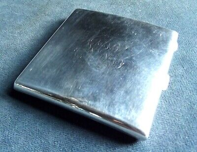 SUPERB ~  SOLID SILVER ~ CASE ~ B'ham 1925 by Henry Williamson