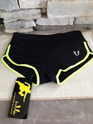 fb1ae9332e FIRM ABS Women's Perfomance Running Yoga Gym Workout Athletic Shorts Black  Sz xS