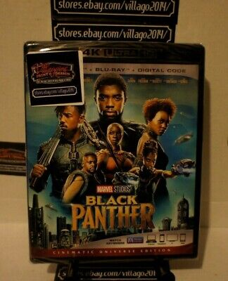 Black Panther   NEW 4k Blu-Ray FREE SHIPPING!!!