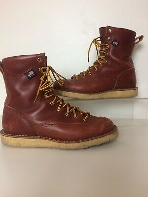 fd1f674ee5c DANNER 017617 BULL Run Brown Leather Vibram Wedge Sole Boots 9 D USA -   89.00