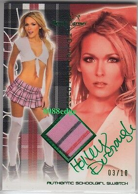 2011 Benchwarmer School Girl Auto:holley Dorrough #3/10 Swatch Autograph Playboy