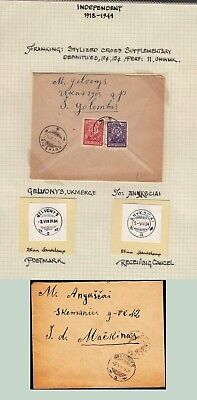 Lithuania 1924 cover Gelvonys to Anyksciai . kn925