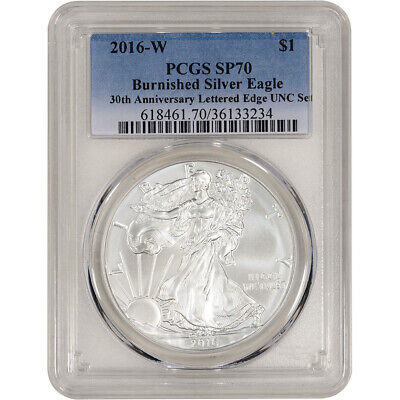 2016-W American Silver Eagle Burnished - PCGS SP70 - From UNC Set