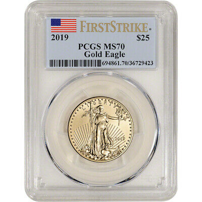 2019 American Gold Eagle 1/2 oz $25 - PCGS MS70 First Strike Flag Label