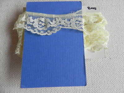 Card of New Gathered Lace  - Yellow