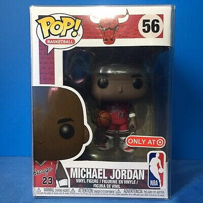 Funko POP! TARGET Exclusive NBA #56 MICHAEL JORDAN IN HAND + POP Protector