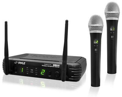 PylePro Wireless Handheld Microphone System With Selectable Frequencies (PDWM337