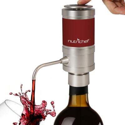 NutriChef Electric Wine Aerator Dispenser Pump - Portable and Automatic Bottle B