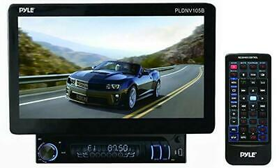Pyle 10.1-Inch Bluetooth and GPS Navigation Headunit Receiver, Motorized LCD Tou