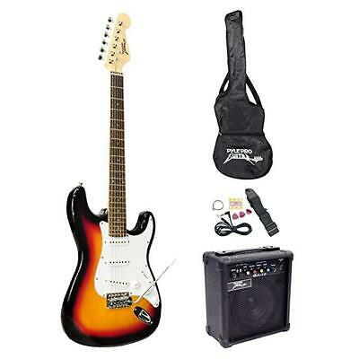 PylePro Full Size Electric Guitar Package w/Amp, Case & Accessories, Electric Gu