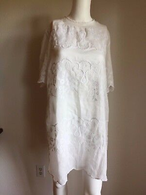 7d5694f2c2 NWOT ISABEL MARANT White Cotton Embroidered Short Dress 38 US 4 6  750  PRISTINE