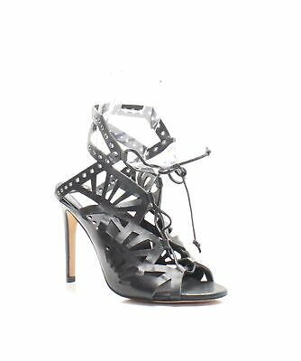 1ddaa64d1279 Dolce Vita NEW Black Women s Size 9.5M Helena Leather Cutout Sandal  199-   106