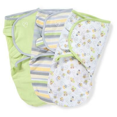 Summer Infant SwaddleMe Original Swaddle - Small/Med - 3 Pack - Busy Bees