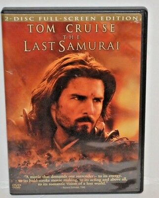 The Last Samurai DVD - 2 Disc Full Screen Edition - Tom Cruise PreOwned