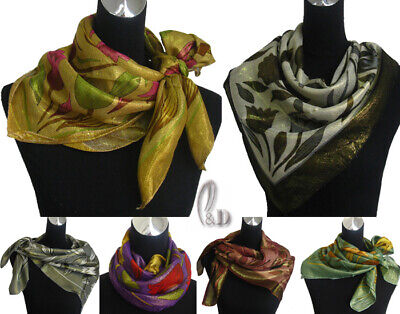 WHOLESALE BULK LOT OF 20 MIXED STYLE Shiny Square Head Neck Wrap Scarf sc049