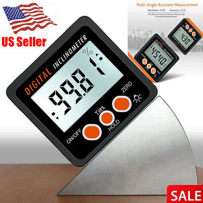 US Digital Inclinometer Spirit Level Protractor Angle Finder Gauge Meter Bevel
