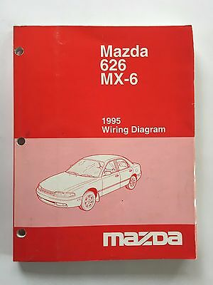 1995 Mazda 626 Mx 6 Service Shop Repair Manual Wiring Diagrams 116 97 Picclick