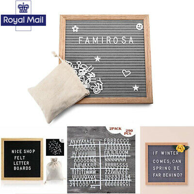 10X10 INCH CHANGEABLE Felt Letter Message Board With 340 Plastic