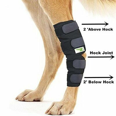 New Knee Brace For Dogs Hock Protector ACL Therapeutic Dog Rear Leg 4 Strap S,M,