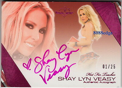 2011 Benchwarmer Hot For Teacher Auto: Shay Lyn Veasy #1/25 Pink Autograph 1/1