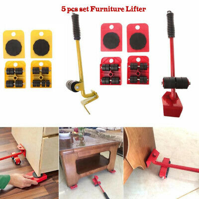 5x Heavy Furniture Shifter Lifter Moving Wheels Slider Mover Table Sofa Removal