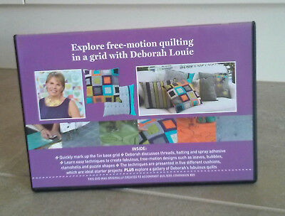 EXPLORE FREE-MOTION QUILTING IN A GRID with DEBORAH LOUIE DVD ~ NEW