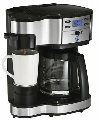 Hamilton SS-15 12-Cup Coffee Maker and Single-Serve Brewer, Stainless Steel