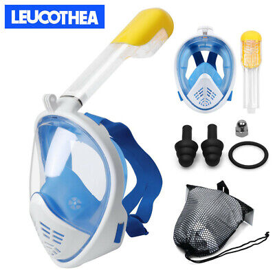 LEUCOTHEA Full Face Diving Snorkel Mask Swimming Scuba Kids Adults UK 2019