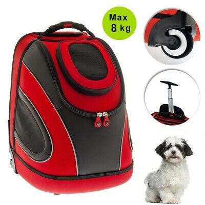 Fuss Dog Trolley per Cani 2 in 1 Rosso Pet Mobile Max 8 Kg