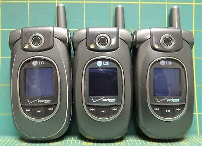 LOT OF (3) Verizon Wireless LG VX8300 Bluetooth Camera Flip-phones *Sold As  Is*