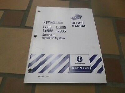 NEW HOLLAND L865 LX865 Skid Steer Loader Hydraulic System Service Repair on