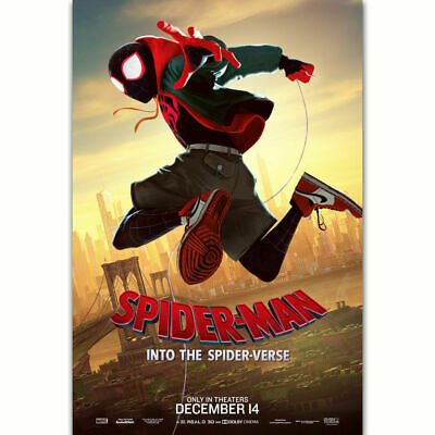C593 Spider Man Into the Spider Verse Character Movie Film Poster Art Decor