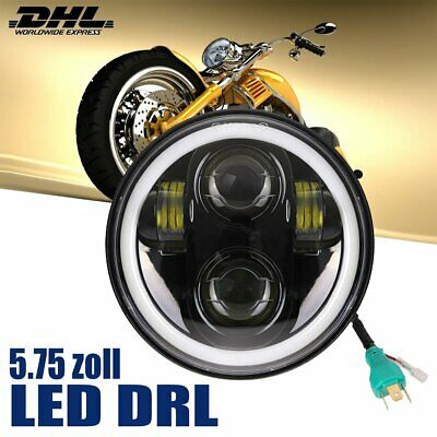 "5-3/4"" LED Projection Daymaker DRL Headlight Scheinwerfer für Harley Davidson SA"