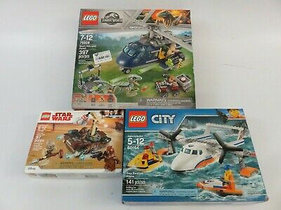 3 Sealed In Box Lego Complete Sets City Jurassic World Star Wars
