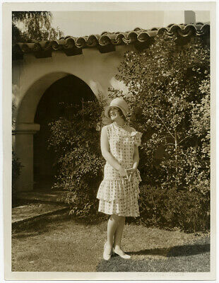 Norma Shearer Breezy Stylish Outdoors Fashion Photograph Vint Large Format 1920s