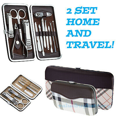 21 PCS Pedicure / Manicure Set Nail Clippers Cleaner Cuticle Grooming Kit Case