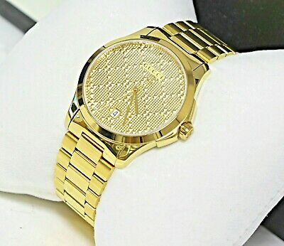 1ccd66eb61b MINT Gucci G-Timeless Gold-Tone Stainless Steel Unisex Watch YA126461-NO  RSERVE