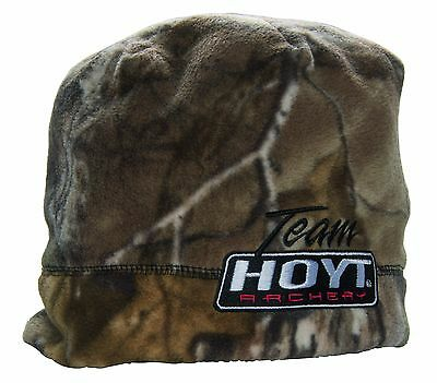 a05b06a4947  NEW 2019 Team Hoyt Fleece Camo Blaze Orange Beanie Archery Compound Bow Cap