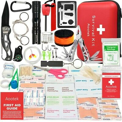 Aootek Upgraded first aid survival Kit.Emergency Kit earthquake survival kit