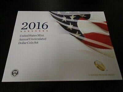 "2016 United States Mint Annual Uncirculated Dollar Coin Set  SE-""W"" & edgemarked"