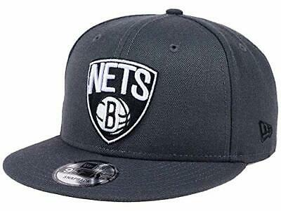 1626ed93879 Brooklyn Nets NBA New Era 9Fifty Alternate Hat Cap Gray Graphite Men s  Snapback