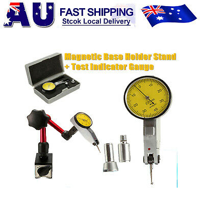 Flexible Magnetic Base Holder Stand + Scale Precision Dial Test Indicator Gauge