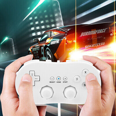 1/2x Classic Pro Controller Games Gamepad For Nintendo Wii Console White AU