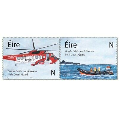 2019 Ireland ~ New Issue ~ Irish Coast Guard N Rate Setenant Pair Mnh